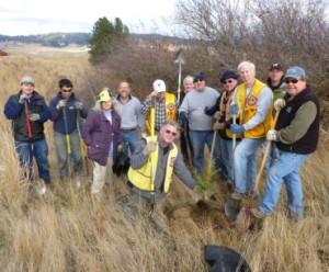 Lions Club Planting Trees