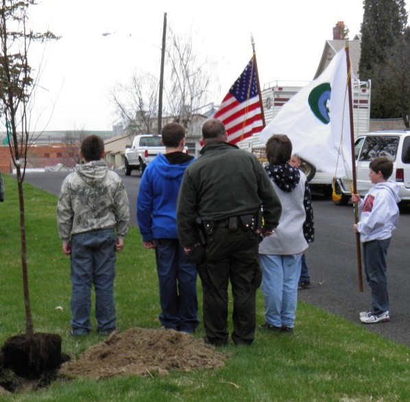Color Guard helps celebrate Arbor Day in Ritzville.