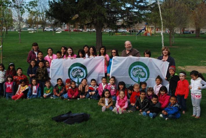 Arbor Day in Grandview, a Tree City for 16 years.